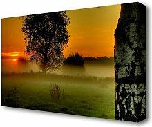 Leinwandbild Landschaft bei Morgendämmerung East