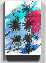 Leinwandbild Landschaft mit Palmen
