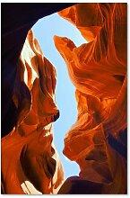 Leinwandbild Landschaft mit roten Felsen