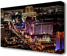 Leinwandbild Las Vegas Nachtlichter