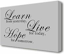 Leinwandbild Learn Live Hope East Urban Home
