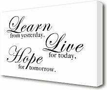 Leinwandbild Learn Live Hope in Durchsichtig East