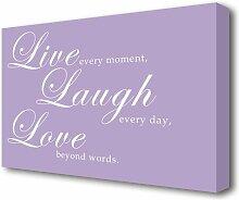 Leinwandbild Live Laugh Love 2 East Urban Home