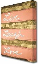 Leinwandbild Live Laugh Love 3 East Urban Home