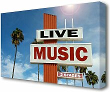 Leinwandbild Live Music East Urban Home