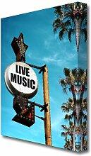 Leinwandbild Live Music This Way East Urban Home