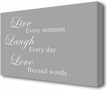 Leinwandbild Love Quote Live Laugh Love East Urban