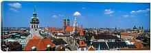 Leinwandbild Luftansicht der Altstadt, München,
