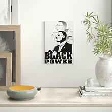 Leinwandbild Martin Luther King Black Power