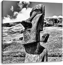LeinwandbildMoai Statue auf den Osterinseln East
