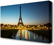Leinwandbild Nachtlichter am Eiffelturm 2 in
