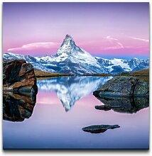 Leinwandbild Panorama der Schweiz