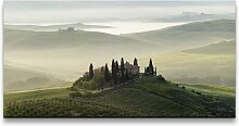 Leinwandbild Panorama der Toskana East Urban Home