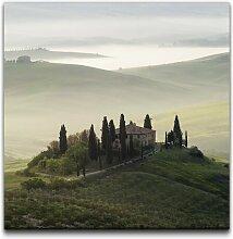 Leinwandbild Panorama der Toskana