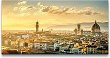 Leinwandbild Panorama in Italien East Urban Home
