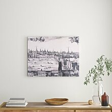 Leinwandbild Panorama von London East Urban Home