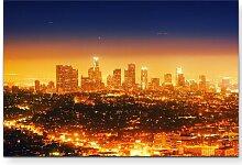 LeinwandbildPanorama von Los Angeles bei Nacht