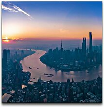 Leinwandbild Panorama von Shanghai East Urban Home