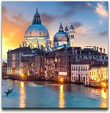 Leinwandbild Panorama von Venedig East Urban Home