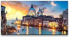 Leinwandbild Panorama von Venedig