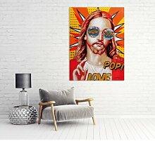 Leinwandbild Pop Art Jesus