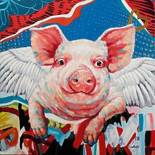 Leinwandbild Pop Art Piggy