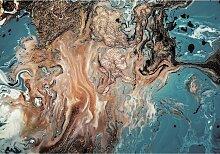 Leinwandbild Puring Blue&Gold, 70 × 100 cm