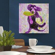 Leinwandbild Purple Frisbee von Michelle Rivera