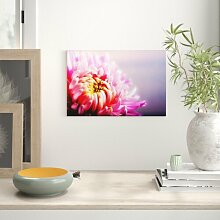 Leinwandbild Rosa Chrysantheme, Fotodruck Big Box