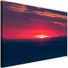 Leinwandbild Roter Sonnenuntergang