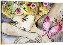 Leinwandbild Schmetterling-Prinzessin