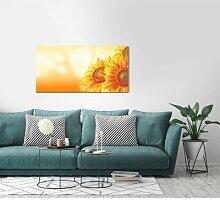 Leinwandbild Schöne Sonnenblumen
