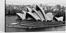 Leinwandbild schwarz weiß Opernhaus Sydney