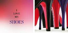Leinwandbild Shoes (Set) 80x40 cm bunt