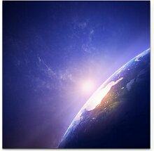 LeinwandbildSonnenaufgang im Weltraum