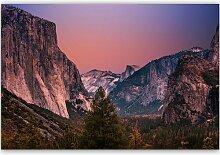Leinwandbild Sonnenaufgang über dem Gebirge