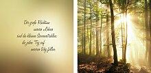 Leinwandbild Sonnenstrahlen (Set) 80x40 cm bunt