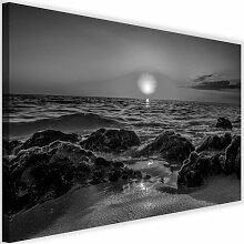 Leinwandbild Sonnenuntergang am Meer 2