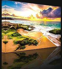 Leinwandbild Sonnenuntergang auf Hawaii
