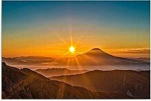 Leinwandbild Sonnenuntergang in den Bergen 2