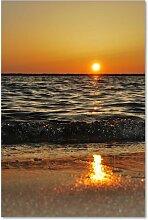Leinwandbild Sonnenuntergang über dem Meer 2