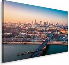 Leinwandbild Stadt Warschau Panorama