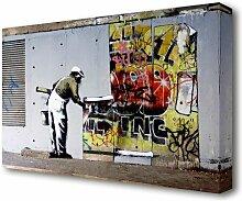 Leinwandbild Tapete über Robbo-Graffiti