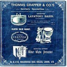Leinwandbild Thomas Crapper Erfinder der Toilette