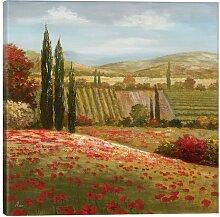 Leinwandbild Toskanische Zypresse I ClassicLiving