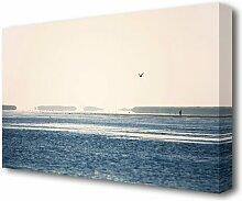 Leinwandbild Vögel am Morgen in Blau/Weiß East