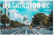 Leinwandbild Washington Landschaft