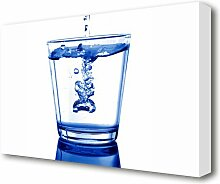 Leinwandbild Wasserglas East Urban Home Größe: