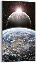 Leinwandbild Weltraumlandschaft Sonnenaufgang