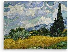 Leinwandbild Zypresse von Vincent Van Gogh